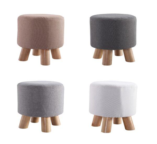 taburete cubo tapizado