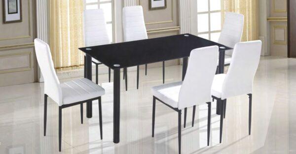 conjunto mesa y silla EMI blanca