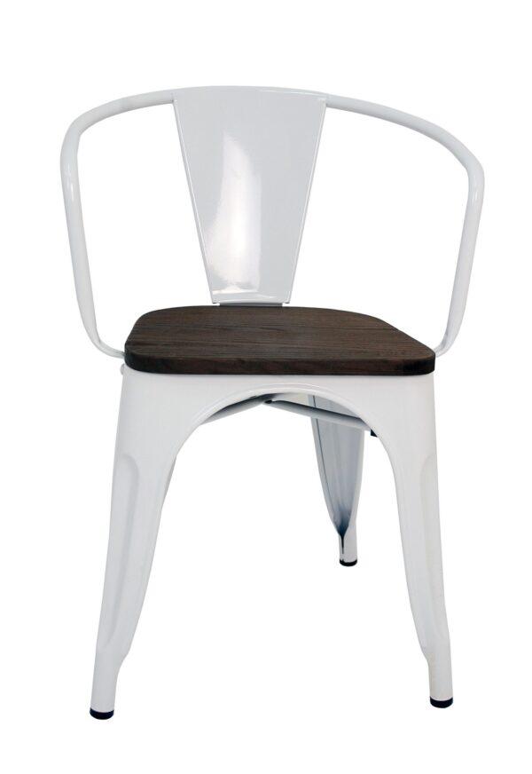 la silla espanola silla cuadrada estilo tolix con respaldo en color blanco y asiento en madera de color oscuro P 1032609 7765033 1 scaled