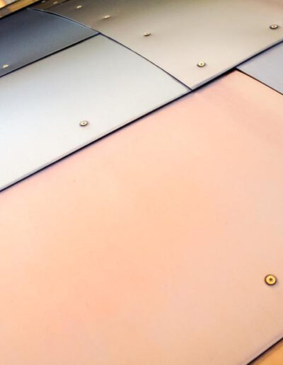 colored metal panels texture